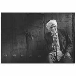 The Greeter by Yousef Almasoud - Black & White Photography on Metal or Acrylic