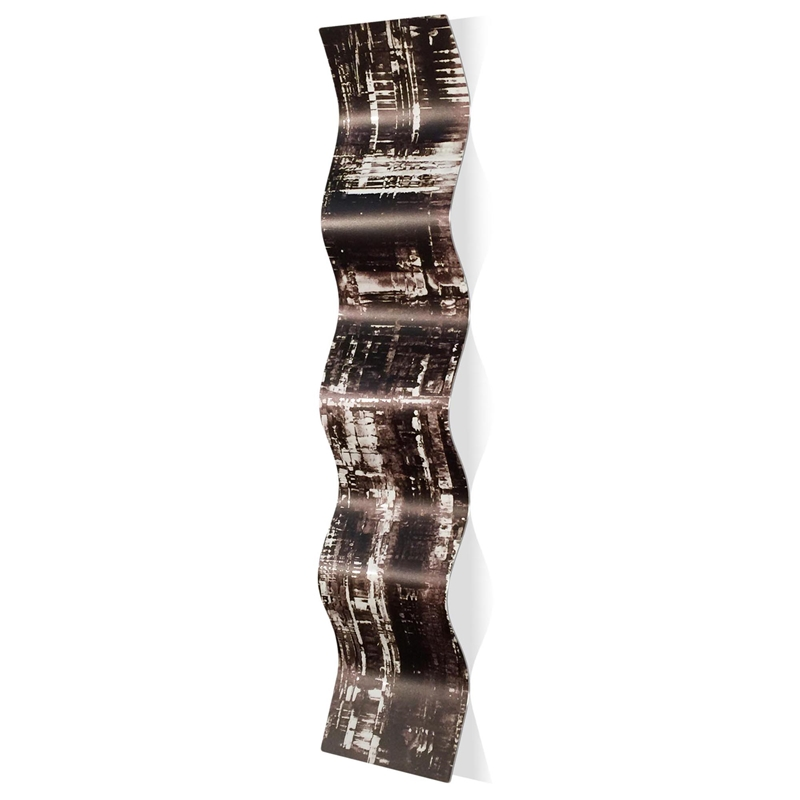 Aporia Black Wave 9.5x44in. Metal Eclectic Decor