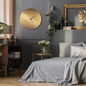Bronzesmith Circle Clock Large Blue - Lifestyle View