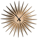 Adam Schwoeppe 'Atomic Era Clock Bronze Maple Black' Midcentury Modern Style Wall Clock