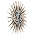 Atomic Era Clock Maple Silver Black by Adam Schwoeppe - Mid-Century Modern Clock on Brushed Maple Polymetal - Image 2