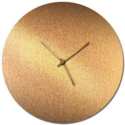 Adam Schwoeppe Bronzesmith Circle Clock Large Bronze Midcentury Modern Style Wall Clock