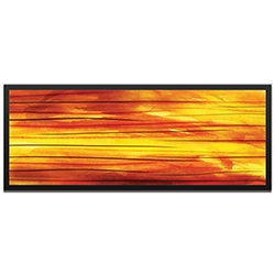 NAY Momentum Framed 48in x 19in Abstract Abstract Orange Art Art on Colored Metal
