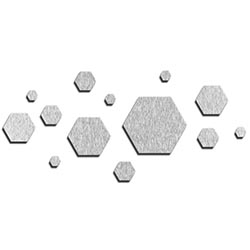 NAY Honeycomb Silver 70in x 32in Hexagons Abstract Art on Aluminum Composite
