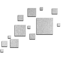 NAY Pixels Silver 66in x 50in Squares Abstract Art on Aluminum Composite