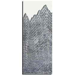 Richard Knight Aging Peaks 19in x 48in Abstract Landscape Art on Polymetal