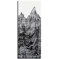 Richard Knight Slate Peaks 19in x 48in Abstract Landscape Art on Polymetal