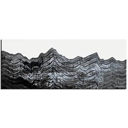 Richard Knight Slate Horizon 48in x 19in Abstract Landscape Art on Polymetal
