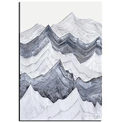 Richard Knight Switchback Mountains 22in x 32in Abstract Landscape Art on Polymetal